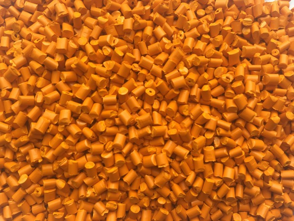 全彩抽粒橙色色母粒QC2008